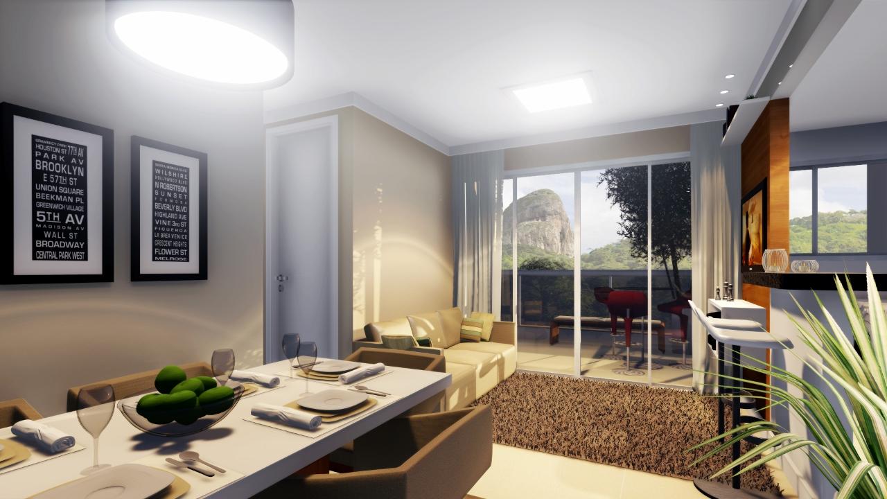 Apartamentos com plantas flex veis em santa cec lia m for Sala de estar vista desde arriba